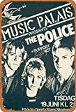 TarSign Music Palais The Police Support Act Vintage Tin Sign Logo 12 8 inches Advertising Eye-Catching Wall Decoration