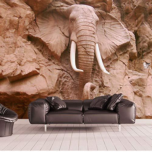 ZCLCHQ 3D Wallpaper Mural Statue & Elephant Waterproof Decoration for Kid Girl Nursery Teen Baby Bedroom Living Room W200 X H170 cm