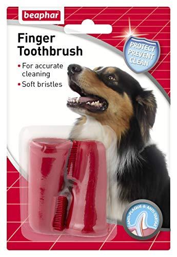 beaphar 11327 Finger-Zahnbürste, 2 Stück