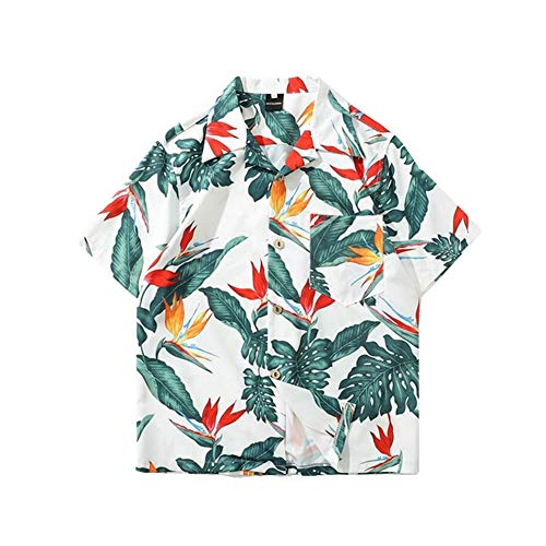 3D Camisa Hawaiana, Morbuy Hombre Casual Manga Corta Camisas Playa Verano 3D Estampada Funny Hawaii Shirt Playa Tops