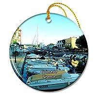 グリモーフランス港クリスマスオーナメントセラミックシート旅行お土産ギフト