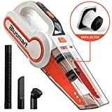 Blusmart Handheld Vacuum Cordless, Wet/Dry Vacuum Cleaner Rechargeable 12V 120W with HEPA Filter, LED Light & Full Accessory Kit