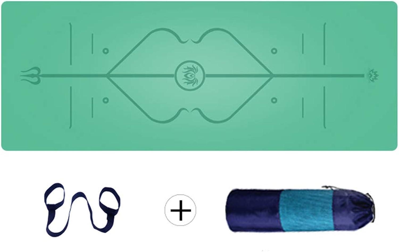 KKCD Naturkautschuk-Yoga-Matte extra dick mit Tragegurten, Rutschfeste, Nicht toxische, hochwertige Sportmatte