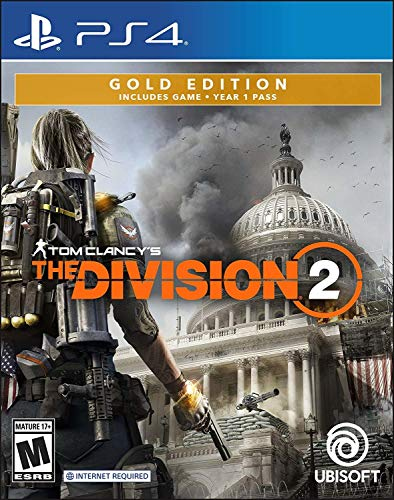 Ubisoft Tom Clancy's The Division 2 SteelBook GOLD Edition, PS4 videogioco Oro PlayStation 4 Inglese