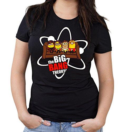 Big Bang Minions Sofa Girlie Shirt | Big Bang Theory | Fun (M)