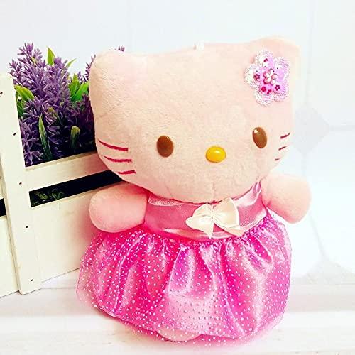 Falda Rosa de Dibujos Animados Hellokitty Peluche, Pareja Gato KT Hello Kitty...
