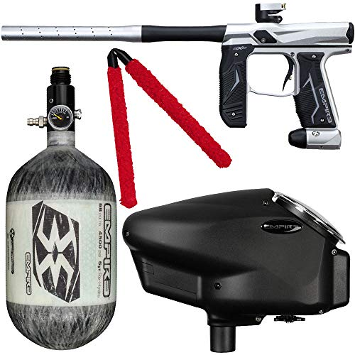 Action Village Empire Axe 2.0 Competition Paintball Gun Package Kit w/Air Tank (Color: Dust Silver/Dust Black, Tank Size: 68/4500)