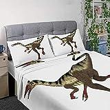 CUDEVS Pelecanimimus Dinosaur Tail,Kids cot 4 pc Set duoble