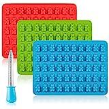 Senhai Candy Silicone Stampi & Ice Cube Vassoi, 3 Pack Gumdrop Gelatina Stampi, stampi per...