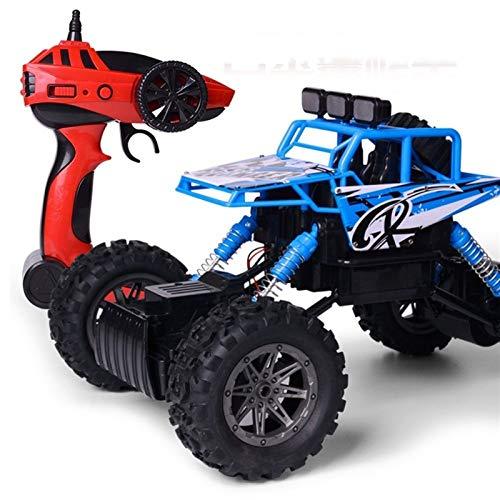 SFOOS 2.4G Alloy Off-Road 4WD RC Trucks USB Carga de la Deriva RC Crawler, Coche de Alta Velocidad RC, Regalo RC Coche Juguete para niños, niños y niñas (Color : Azul)