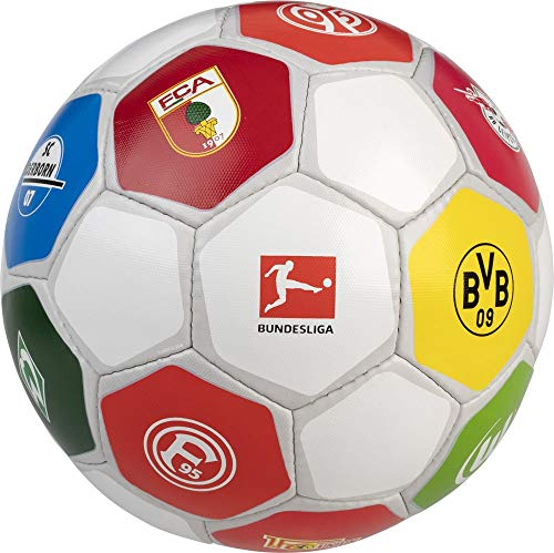 Derbystar Bundesliga Clublogo Pro Fußball weiß/bunt, 5