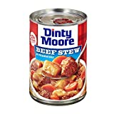 DINTY MOORE Beef Stew: 10g of protein per serving Ready-to-eat dinners that are gluten-free with no preservatives Every can is loaded with hearty chunks of meat and vegetables Shelf stable Simply heat and eat A meal that works as hard as you do