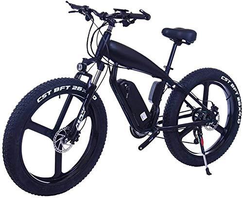 Bicicletas Eléctricas, Bicicletas 26 pulgadas 21/24/27 velocidad eléctrica de montaña con el 4.0' Fat nieve Bicicletas de doble disco Frenos Frenos Beach Cruiser for hombre Deportes E-bikes (Color: 15