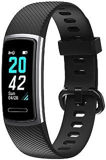 INF Pulsera de Fitness con pulsómetro, Monitor de Actividad, Contador de Pasos, pulsómetro, Resistente al Agua