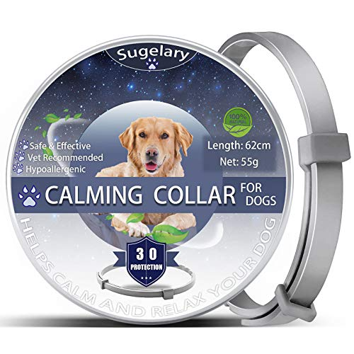 Sugelary Calming Collar for Dogs, Adjustable Anti-Anxiety Dog Collars,...