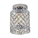 MJLOMJ Lámpara de Techo LED, Lámparas de Techo Semi-Empotradas de Cristal...
