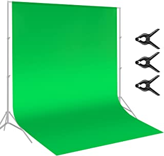 Neewer 9 x 15 feet/2.7 x 4.6 Meters Green Chromakey Muslin Backdrop Background Screen with 3 Clamps for Photo Video Studio...