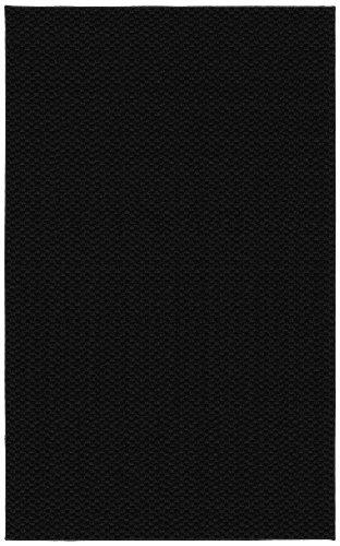 Garland Rug Medallion Area Rug, 9-Feet by 12-Feet, Black