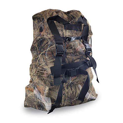 REEKGET Adjustable Shoulder Strap Camo Hunting Bags Mesh Decoy Bag Duck Goose Turkey Hunting Back,Large-Capacity Bait Bag,Drake Decoys Bag