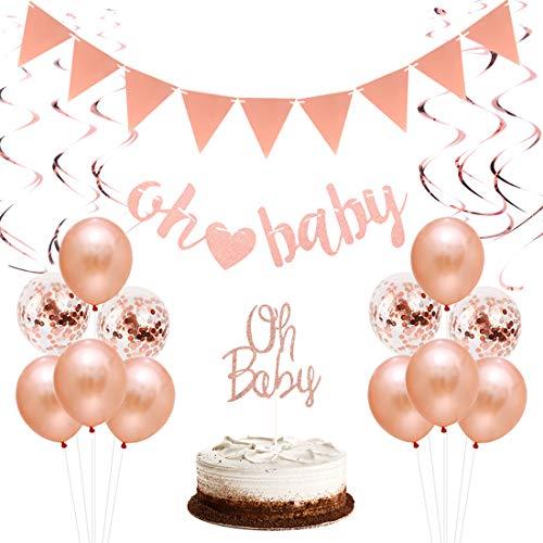 Fête prénatale Teddy Rose Fille babyshower DECO Its a Baby Girl Fête