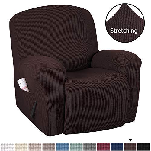 H.VERSAILTEX Stretch Recliner Slipcovers 1-Piece Durable Soft High Stretch Jacquard Sofa Furniture...