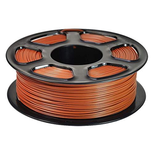 WSHZ Filament de PLA Multicolore, Précision dimensionnelle de l'ensemble de filaments +/- 0,02 mm, Chaque Bobine 1 kg, 1 Paquet de bobines, avec Surface de Fabrication 3D (Brun),5volumes