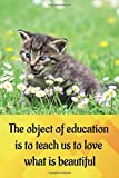 The object of education is to teach us to love what is beautiful: Lined journal - 6 x 9 inches with 120 blank college ruled pages to write in. Funny ... quote. Diary, Composition book, Notebook
