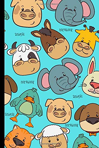 Animal Notebook: Blank Lined Paper , Cute Animal Diary & Journal , Book Gifts Idea For Men Women Kids Teens Girls Boys Friends Children 6'x9' 100 Pages