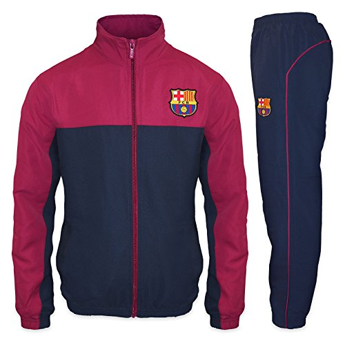 FC Barcelona Official Soccer Gift Mens Jacket & Pants Tracksuit Set Small Navy Blue