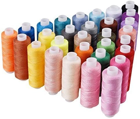 LANGYS 30 Color 2021 model Polyester Sewing Thread Max 42% OFF Sewin Coils and Hand for