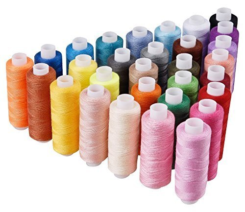 LANGYS 30 Color Polyester Sewing Thread Coils for Hand and Sewing Machine (30 Color)