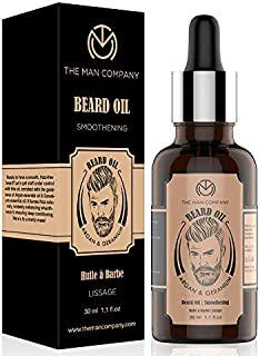 The Man Company Beard Growth Oil for Men with Argan & Geranium For faster Growth | 100% Natural | For Beard Softness, Shin...