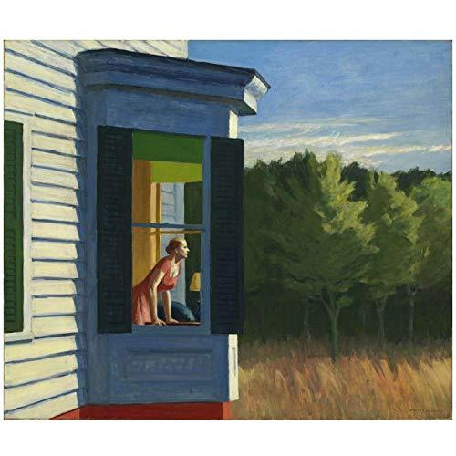 Edward Hopper Cape Cod mañana pintura al óleo lienzo impresión arte de la pared para la decoración del dormitorio de la sala de estar-60x80cm sin marco