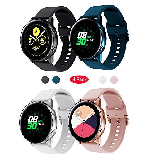 TOPsic für Galaxy Watch Active Armband/Galaxy Watch 42mm Armband/Gear Sport/Galaxy Watch Active2 Armband 20mm Weiche Silikon Sport Ersatzband Uhrenarmband