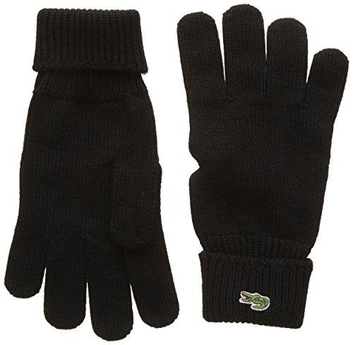 Lacoste Herren Rv4214 Handschuhe, Schwarz (Noir), Large (Herstellergröße: L)