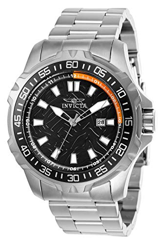 Men's Pro Diver Quartz Watch with Stainless Steel Strap, Silver, 24 (Model: ) - Invicta 25784