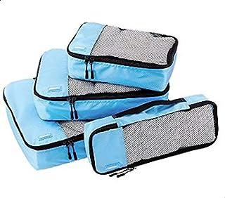 Amazonbasics 4-Piece Packing Cube Set - Small, Medium, Large, And Slim, Unisex