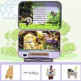 UR MAX BEAUTY DIY Miniatures Kits Maison De Poupée, Poupées Maison Mobiliers Lumière LED Jouets pour Les Enfants De Cadeau d'anniversaire,A