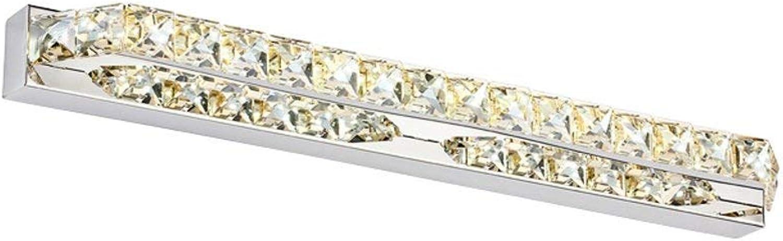 Fashion Crystal LStainless Stahl Spiegel vorderen Leuchte Schlafzimmer Badezimmer Beleuchtung (Farbe  Weies Licht-56 cm)