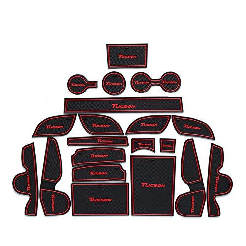 Ruiya Opbergmat voor autodeur, antistofdeur, deurmat, autodeur, deurmat, autodeur, deurmat, autodecoratie met logo (rood)