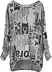 Emma & Giovanni Camiseta Manga Larga Mujer Pullover Gráfica