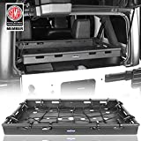 Hooke Road Jeep JK Interior Rear Cargo Basket Shelf Solid Steel Luggage Storage Carrier Compatible with Jeep Wrangler JK Unlimited 2011-2018 (4 Doors)