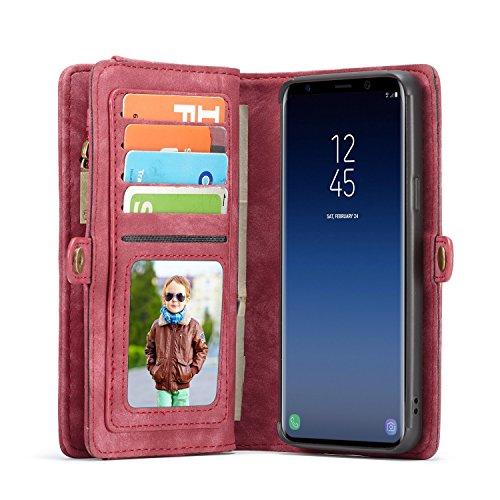 Lobwerk Teléfono móvil para Samsung Galaxy S9Plus SM de G9656.2Pulgadas Funda Flip Case con Tarjetero Cover Dinero Bolsa Funda de Piel sintética Carcasa Funda