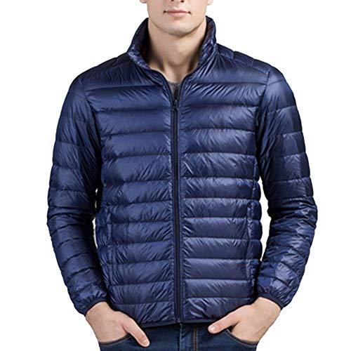 Ibaste heren donsjack Urtra jongens licht warm gewatteerde jas opstaande kraag parka winterjas winterjas herfst winter jas jas jas jas