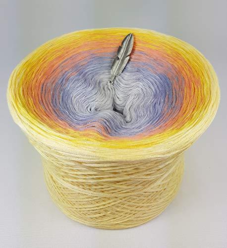 LiLu´s Märchengarne (69,00€/kg) Farbverlaufsgarn Sunny - Vanille außen 200g 4Fädig Bobbel Wolle Colour Gradient