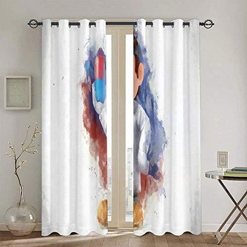 Cortinas térmicas con forro para ventana Super Mario Odyssey, cortinas opacas con ojales para ventanas de cocina, 84 x 84 pulgadas