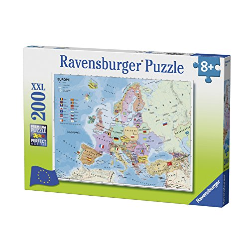Ravensburger 12841Puzzle Europakarte, 200Teile