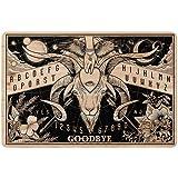 """Ouija Board Doormat - Witch Craft Halloween Welcome Non Slip Indoor Outdoor Doormat, Baphomet Decor (24""""x16"""")"""