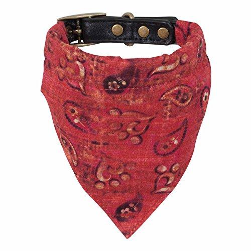 MuttNation Fueled by Miranda Lambert Bandana Custom Fit Collar para perro, Red Bandana Print, 5/8 X 8-12