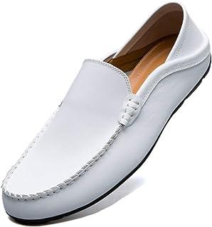 Unitysow Mocassins Homme Été Loafers Cuir Mode Respirant Chaussures de Conduite Plat Flâneurs Chaussures Décontractées Sli...